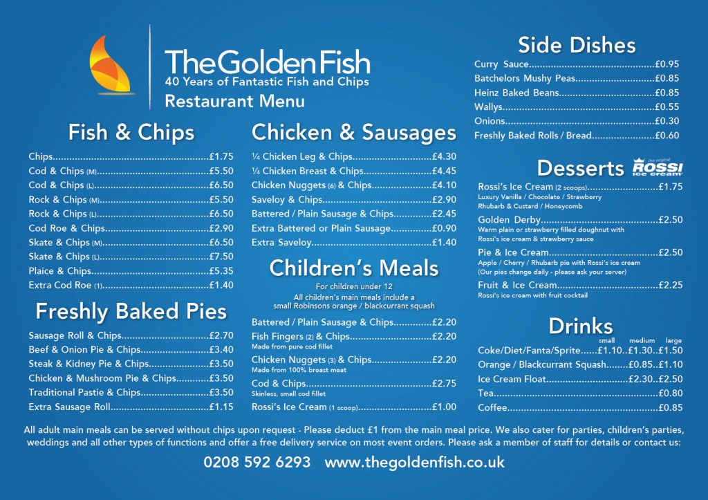 Fish restaurant all about fish for Felix fish camp menu