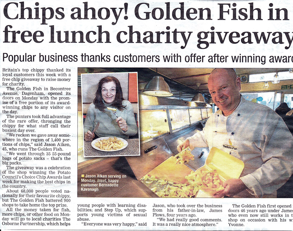 Chips Ahoy! Golden Fish in Free Lunch Charity Giveaway